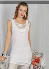 Elisa Cavaletti Lagentop langes Top Shirt Weiß ELP192019910 Sommer 2019