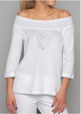 Arte Pura Daniela Dallavalle Langarm T-Shirt in weiß  AP.C30003