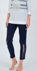 Elisa Cavaletti 7/8 Leggings dunkelblau Vittoria EJP206008208 Sommer 2020
