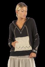 Elisa Cavaletti Sweatshirt T-Shirt Hoodie schwarz EJP215541507 Frühjahr Sommer 2021