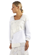 Elisa Cavaletti weißes Sweatshirt T-Shirt Pullover EJP215552303 Frühjahr Sommer 2021