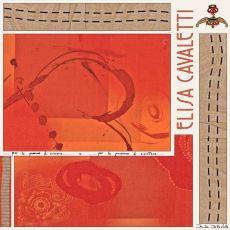 Elisa Cavaletti XXL Schal Tuch Viscose orange ELW200899114 Herbst Winter 2020 2021