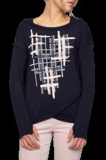 Elisa Cavaletti Langarmshirt Shirt Bluse ELW205049601 blau rosa Herbst Winter 2020 2021