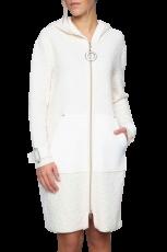 Elisa Cavaletti lange woll weiße Jacke Kurzmantel Mantel ELW207008202 Herbst Winter 2020 2021