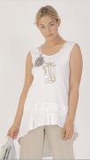 Elisa Cavaletti Tunika Longshirt Shirt weiß EJP202027101 Frühjahr Sommer 2020