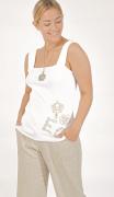Elisa Cavaletti Basic Top Shirt weiß mit EC Logo EJP209027108 Frühjahr Sommer 2020