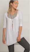 Elisa Cavaletti Tunika Lagenlook T Shirt grau weiß ELP202080201 Sommer 2020