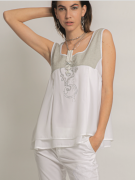 Elisa Cavaletti Top Shirt Lagenlook Bluse weiß ELP209039705 Sommer 2020