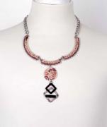 Elisa Cavaletti Kette Necklace Collier pink ELW190505502  Herbst Winter 2019 2020