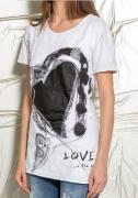 Elisa Cavaletti - Daniela Dallavalle Shirt weiss schwarz mit Print Druck DD0060201