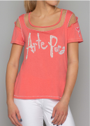 Arte Pura Daniela Dallavalle T-Shirt corallo Cut Out AP.C30008