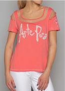 Arte Pura Daniela Dallavalle T-Shirt corallo Cut Out AP.C30008
