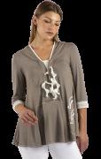 Elisa Cavaletti Empire T-Shirt V-Neck Tunika EJP215036102 Frühjahr Sommer 2021