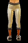 Elisa Cavaletti goldene Capri Leggings EJP216041501 Frühjahr Sommer 2021