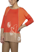 Elisa Cavaletti Langarmshirt T Shirt Pulli orange EJW205017200 Herbst Winter 2020 2021