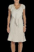 Elisa Cavaletti kurzes Leinenkleid Kleid mit V-Ausschnitt ELP212059510 Sommer 2021