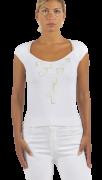 Elisa Cavaletti Top Basic  T-Shirt weiß Kurzarm ELP219062200 Sommer 2021