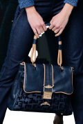Elisa Cavaletti große Leder Tasche Shopper blau mit Schulterriemen ELW200686500 Herbst Winter 20 21