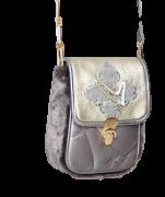Elisa Cavaletti Pochette Clutch kleine Tasche silber mit Schulterriemen ELW200686505 Herbst Winter 2020 2021