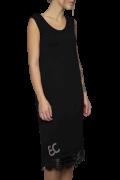 Elisa Cavaletti schwarzes T-Shirt Kleid mit Spitze 95 cm ELW202022623 Herbst Winter 2020 2021