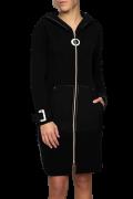 Elisa Cavaletti lange schwarze Jacke Kurzmantel Mantel ELW207008202 Herbst Winter 2020 2021